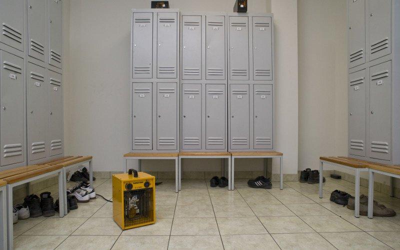 nagrzewnica elektryczna na warsztacie